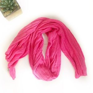 Old Navy Neon Pink Knit Scarf